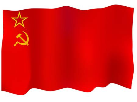Ussr Flag. Illustration