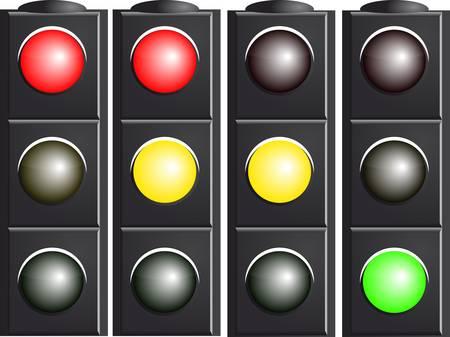 Traffic Light. Variants. Vector