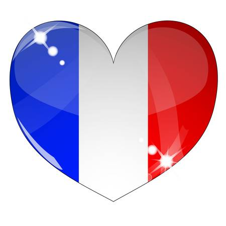 Wektor serce z teksturÄ… pod banderÄ… Francji