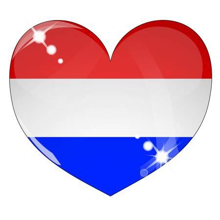 niederlande: Symbol der Niederlande Fahne Illustration