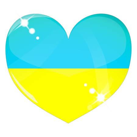 Vector heart with Ukraine flag texture Illustration