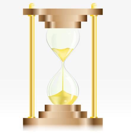 Gold Sand Glass Clock