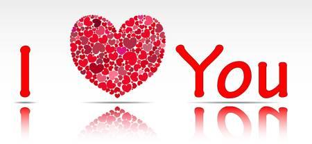 illustration of the inscription I love you.
