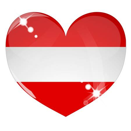 Vector heart with Australia flag texture Vector
