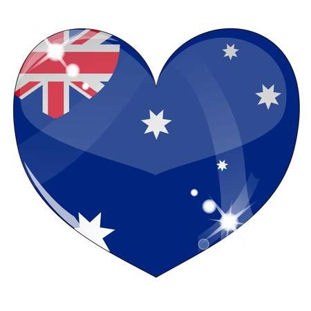 Vector heart with United Kingdom flag texture Stock Vector - 8503229