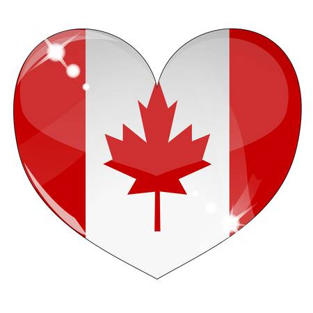 Vector heart with Canada flag texture Stock Vector - 8503225