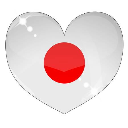 japanese flag: heart with Australia flag texture