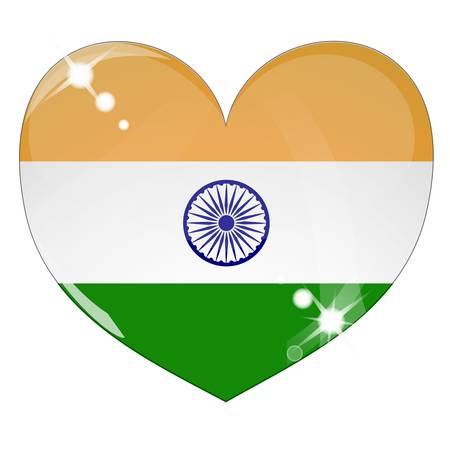 Vector heart with India flag texture Stock Vector - 8503232