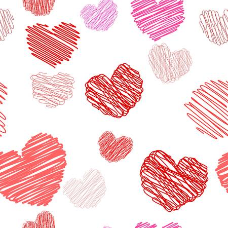 Seamless hearts pattern Stock Vector - 8519224