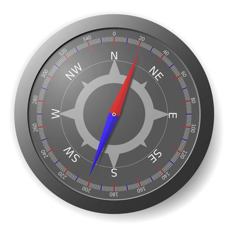 Illustration of the modern black compass  Vector