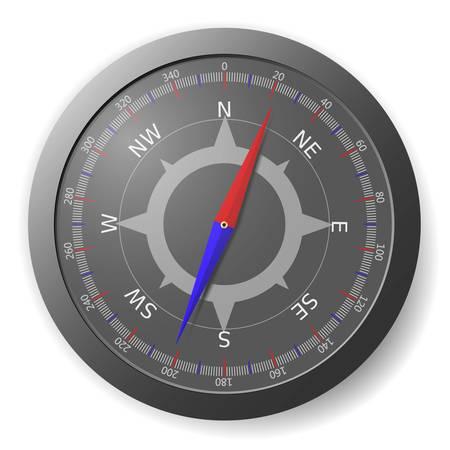 Ilustracja nowoczesnych kompas czarny