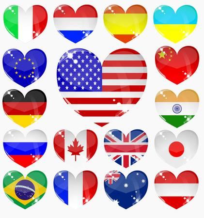 od serca flagi Ilustracja