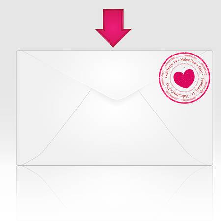 Love Mail Stock Vector - 8570619