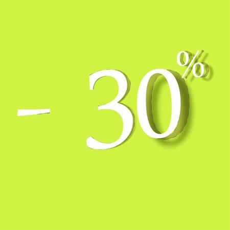 30% Discount Label Vector