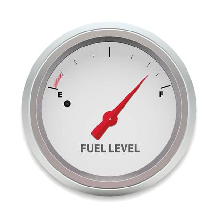 petrol pump: Vector Fuel Level Illustration
