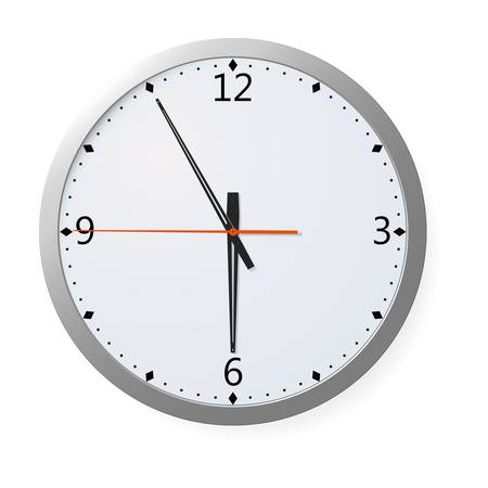 Vector Clock On A Wall Stock Vector - 8783708
