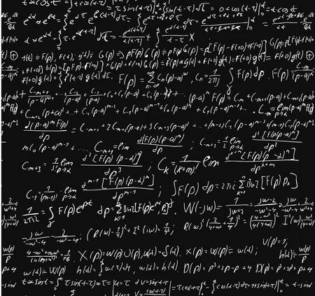 mathematical: Blackboard With A Math Calculation. Illustration