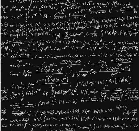 mathematical symbol: Lavagna con un calcolo matematico. Vettoriali
