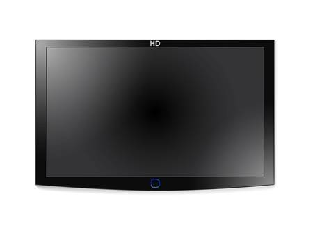 flat screen tv: Plasma Lcd Tv Illustration