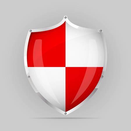 governmental: Escudo de un blanco rojo