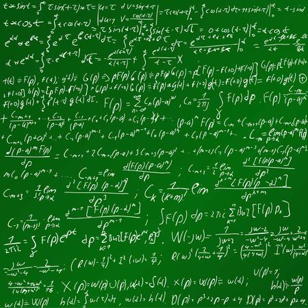 Maths Chalk Board Illustration