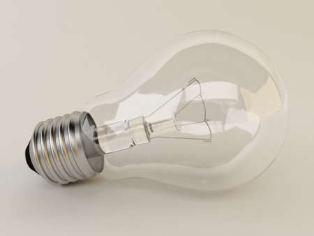 3d light bulb Stock Photo - 14847193