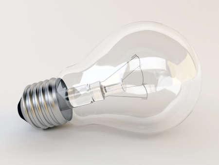 3d light bulb Stock Photo