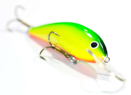 Fishing Lure  Wobbler Popper  Isolated on White Background photo