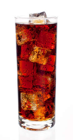 highball: Highball of cola with ice