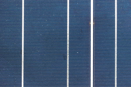 solar cell panel close up, silicon cells detail photo