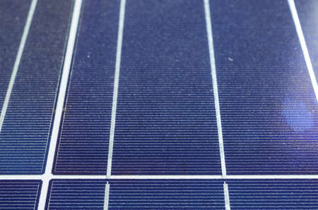 photoelectric: photovoltaic solar cell panel close up, detail detail of junctions