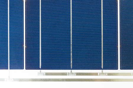 photoelectric: solar cell panel close up, silicon cells detail