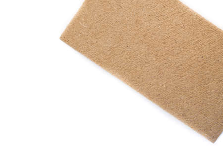 compressed: compressed thermal insulating hemp fiber panel  - white background Stock Photo