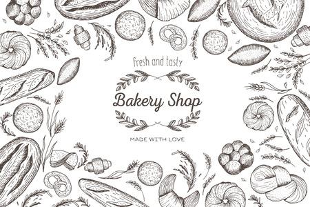 Bread design template. Illustration