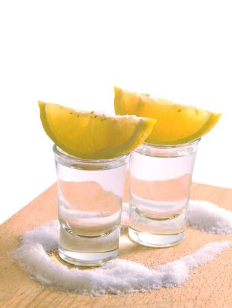 Salt, lemon, tequila
