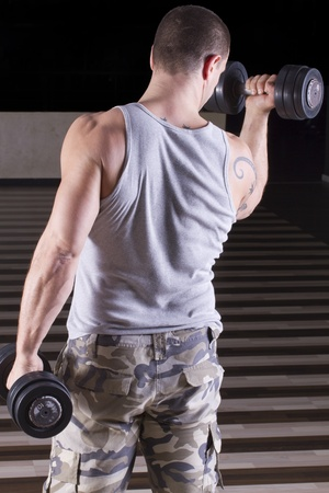 Weighlifting workout for back muscles