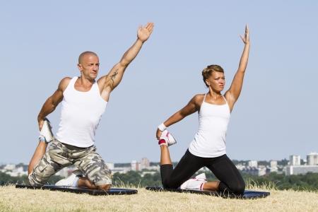 Cuople Yoga in der Natur