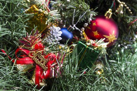 Weihnachtsdekoration mit Geschenken
