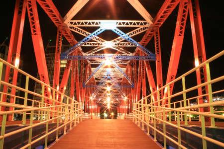 Salford Quays Detroit Bridge 2 Stock Photo - 1439389
