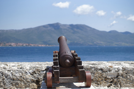 Artillery in the Korcula town