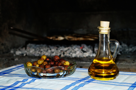 Dalmatian olives and extra virgin olive oil