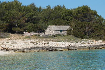 Small stone house on Proizd islet, Dalmatia, Croatia