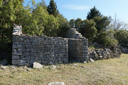 Old village Dub, Korcula Island - Croatia Stock Photo