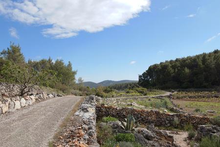 Dalmatian Landscape, Croatia Stock Photo