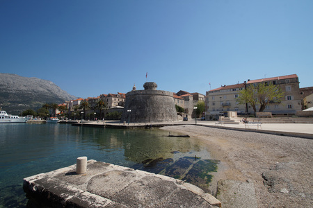 Korcula city Stock Photo
