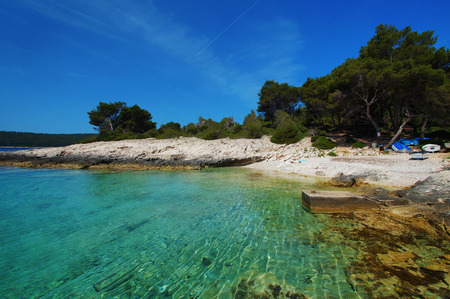 Nova cove on the Korcula island Stock Photo
