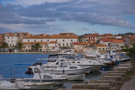 A small Adriatic town Vela Luka on the Korcula Island, Croatia