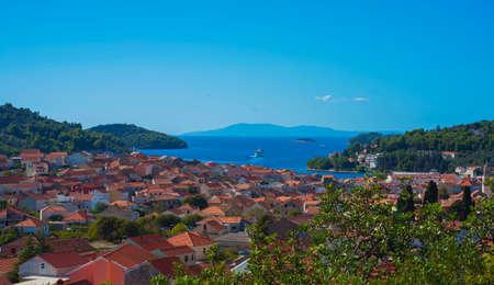 Vela Luka - Dalmatian town, croatia Stock Photo