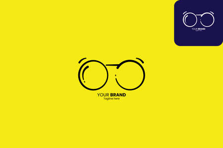eyeglasses, spectacles simple easy to remember and can be seen well even from a distance, prefect to your brand fashion or eye services Vecteurs
