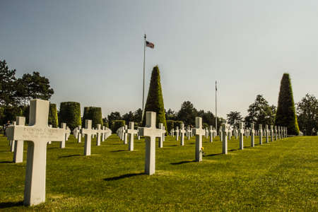 American War Cemetery at Omaha Beach, Normandy  Colleville-sur-Mer